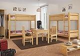 Erst-Holz Etagenbett f. Erwachsene 90×200 mit Rollrosten - 7