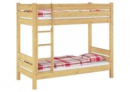 ERst-Holz Etagenbett f. Erwachsene 90x200 mit Rollrosten