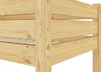 alles ber erst holz etagenbett f erwachsene 90x200 mit rollrosten. Black Bedroom Furniture Sets. Home Design Ideas