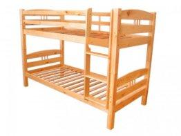 Erst-Holz Stockbett aus massiver Kiefer