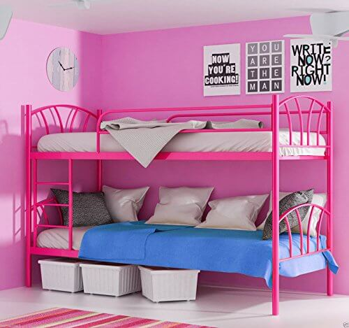 alles ber homeline stockbett in pink. Black Bedroom Furniture Sets. Home Design Ideas