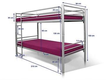 Möbel-eins Stockbett JONNY aus Metall